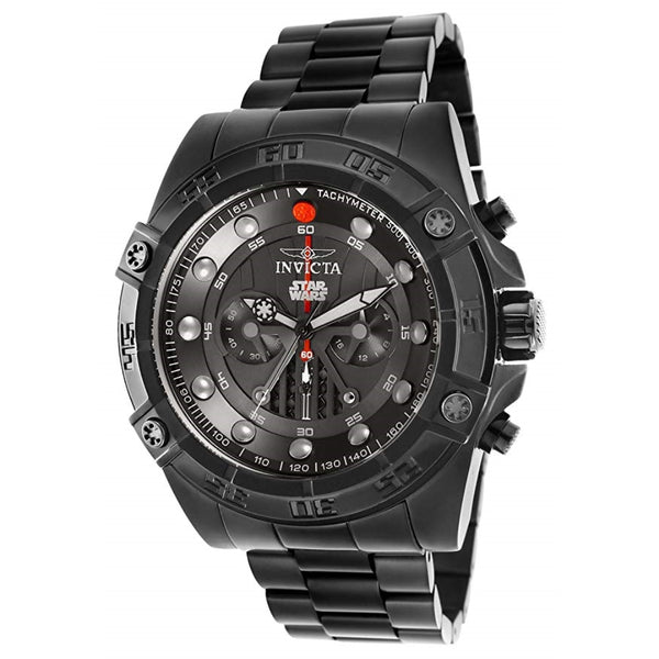Invicta Men's 'Star Wars' Quartz Stainless Steel Casual Watch, Color:Black (Model: 26497)