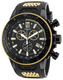 Invicta 19577 Men's Jason Taylor Chrono Gold Tone Accented Black Dial Dive Watch