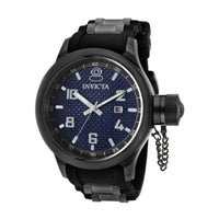 Invicta Men's 0554 Russian Diver Collection Carbon Fiber Black Rubber Watch I...