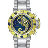 Invicta Men's 26227 Subaqua Quartz 3 Hand Blue, Gold Dial Watch