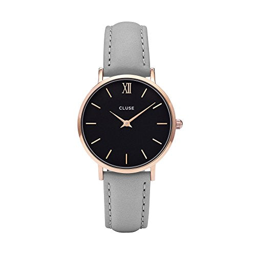 CLUSE Minuit Rose Gold Black/Grey Womens Watch CL30018