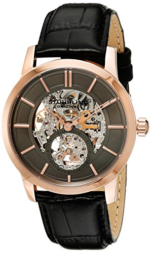 Stuhrling Original 924 04 Men's Legacy Analog Mechanical Hand Wind Black Watch