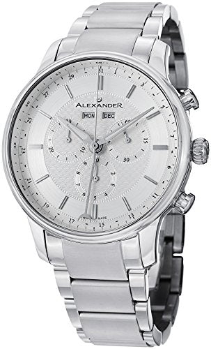 Alexander A101B-01 Statesman Men's Chronograph Stainless Steel Swiss Watch