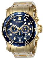 Invicta Men's 23651 Pro Diver Quartz Chronograph Blue Dial Watch
