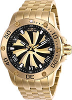 Invicta Men's 25850 Speedway Automatic 3 Hand Gold, Black Dial Watch