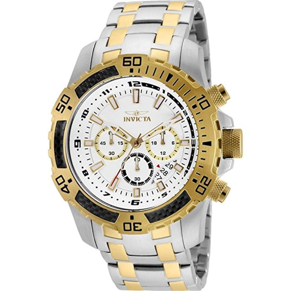 Invicta Men's 24859 Pro Diver Quartz Chronograph Silver Dial Watch