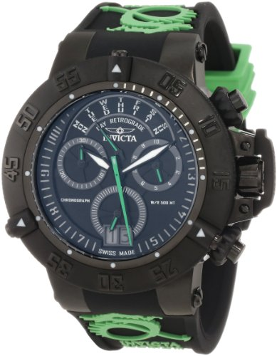 Invicta Men's 10187 Subaqua Noma III Chronograph Black Dial Black and Green S...