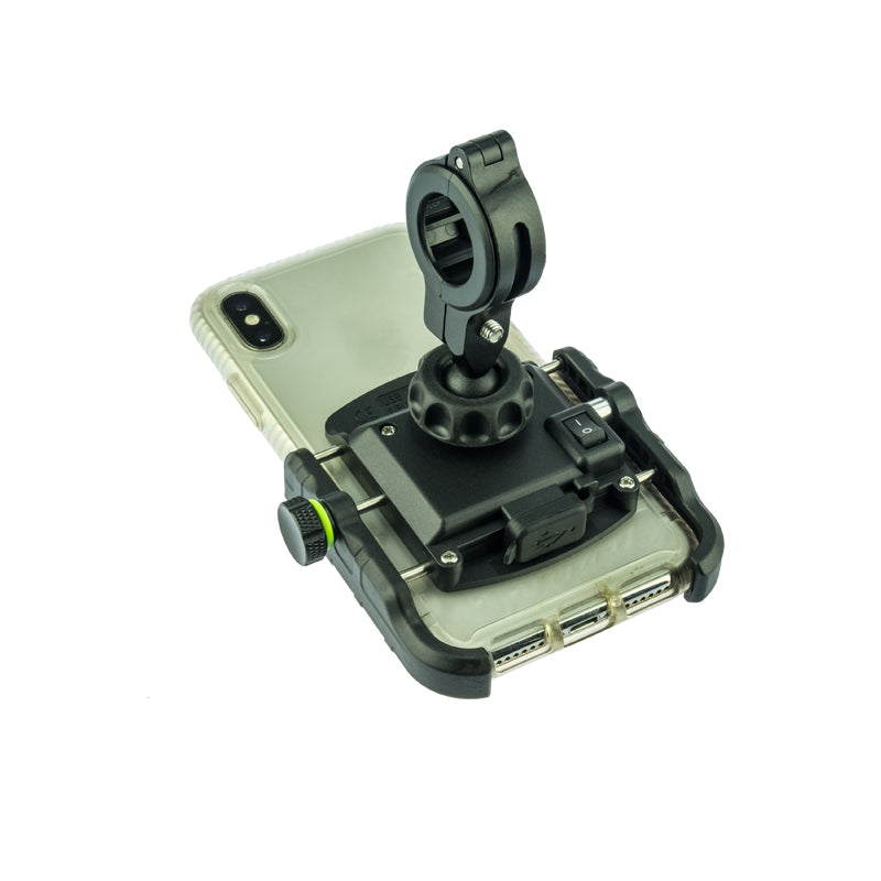 PA020 - Phone Mount with USB Charge port BLACK