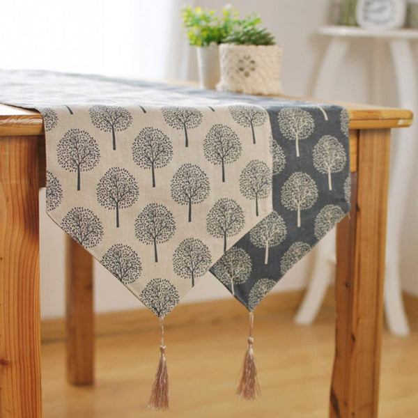 Modern Tree Table Runner