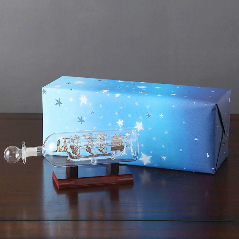 Ship in a Bottle Figurine