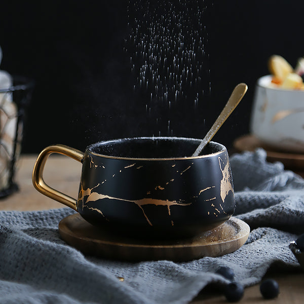 Nordic Coffee Cup And Wood Saucer Set Do The Honors