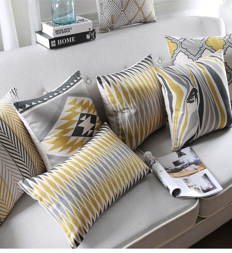 Muted Mustard Pillow Cases