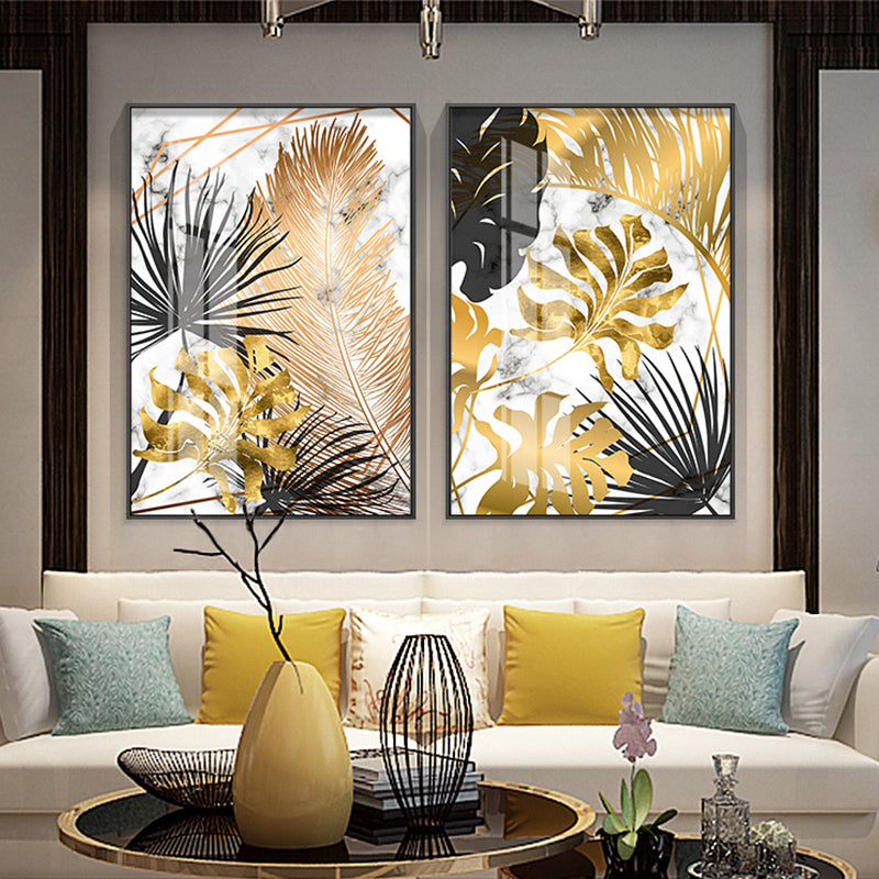 Gold and Black Fern Print Collection