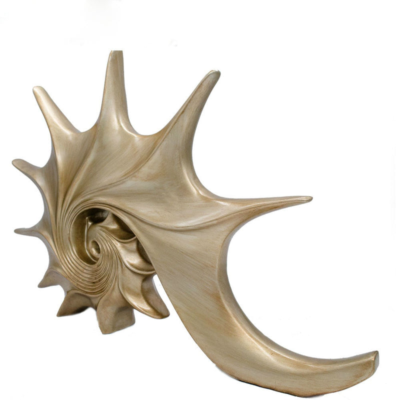 Golden Conch Figurine