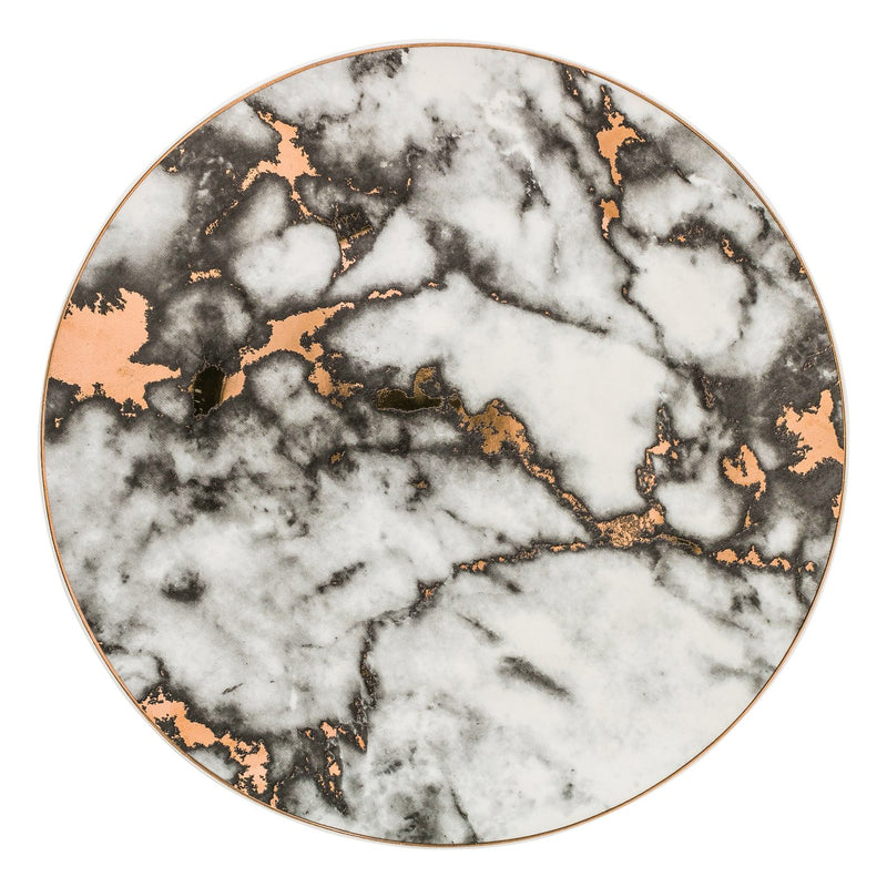 Monet Marble Design Ceramic Dinner Plates Set