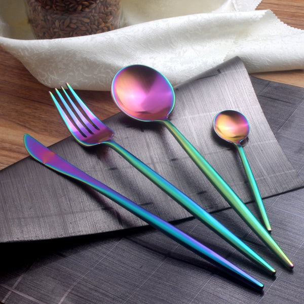 Rainbow Stainless Steel Cutlery Set