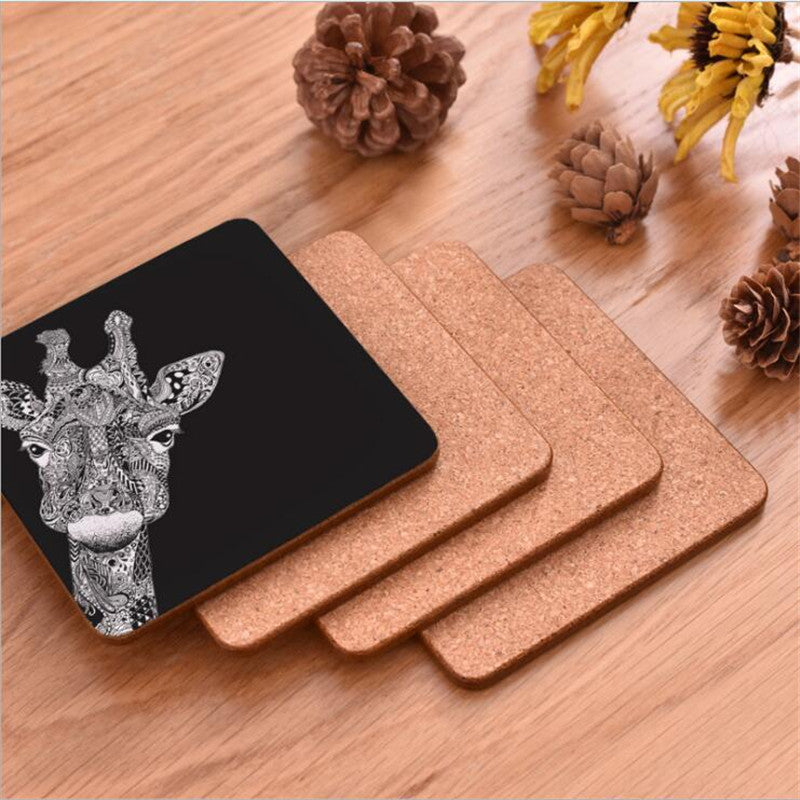 Hand Crafted Animal Wood Coffee Coaster