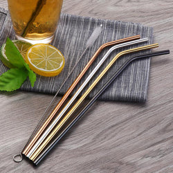 Sensible 8 piece Stainless Steel Straw
