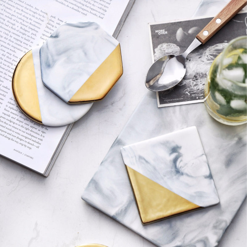 White Marble Coffee Coaster