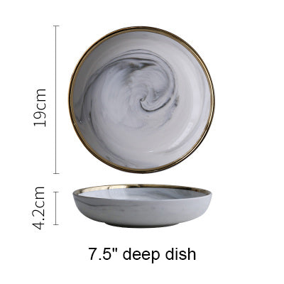 White Marble Tableware