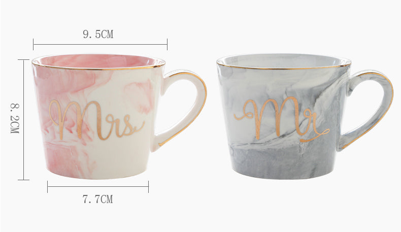 Mr and Mrs Coffee Cups