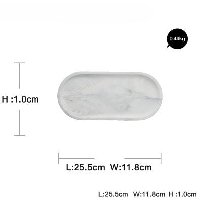 Oval Shape White Marble Plate