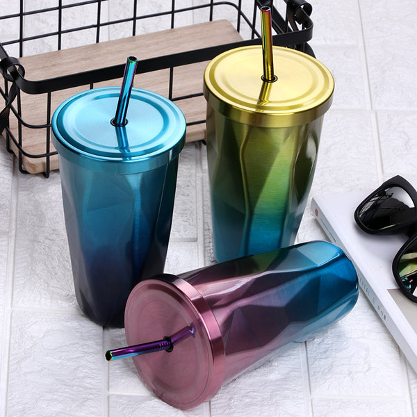 Fashion Stainless Steel Tumbler with Straw