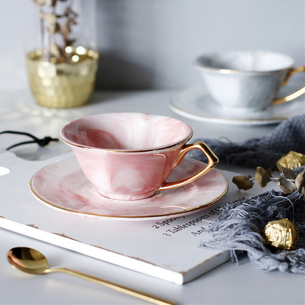 Heart Coffee Cup and Saucer