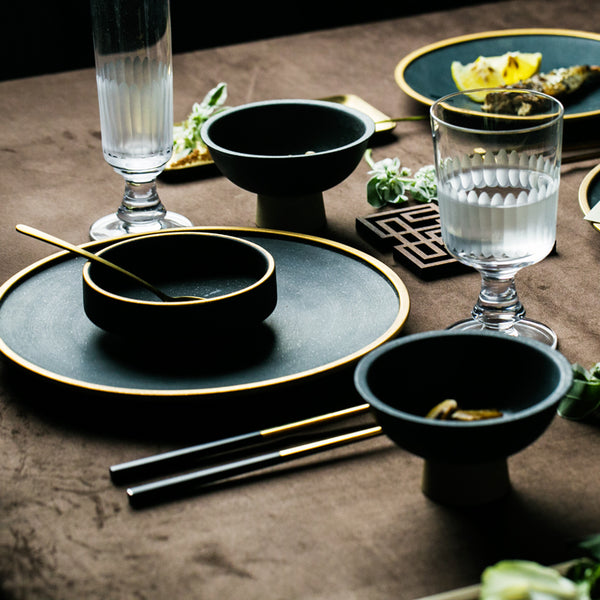 Gold Plated Ceramic Dinnerware