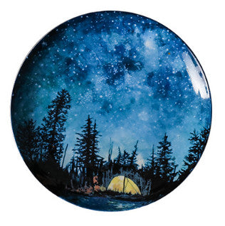 Starry Night Ceramic Dinner Plates