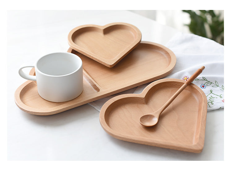 Heart Solid Wood Plate
