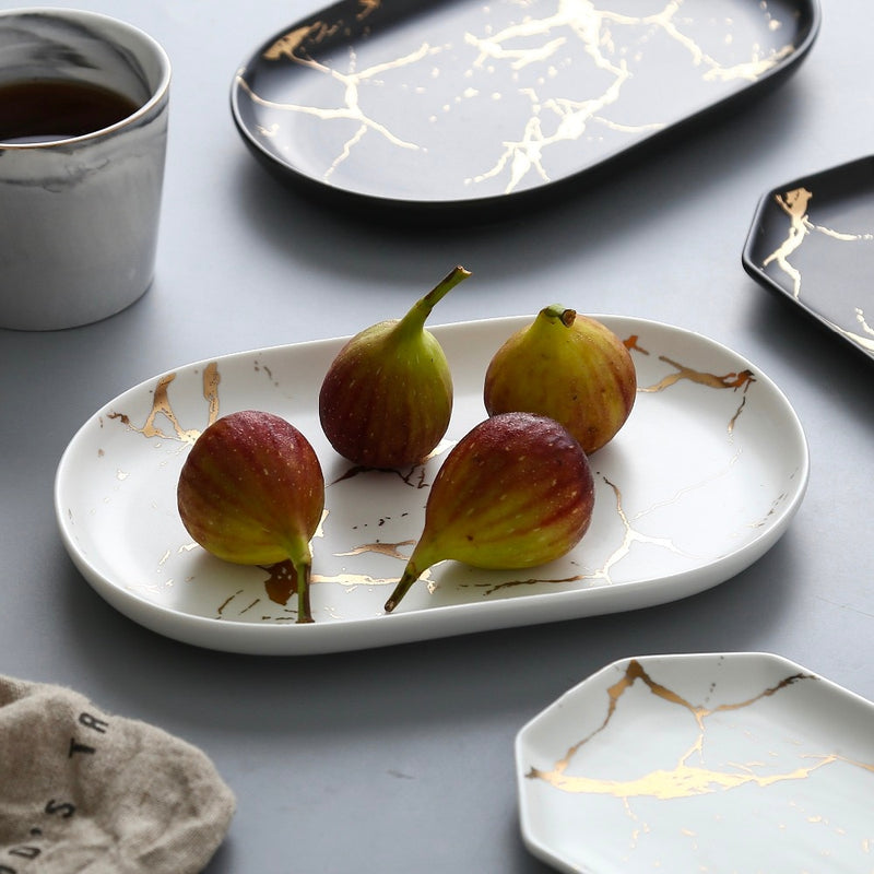 Parisian Ceramic Dinner Plates Set