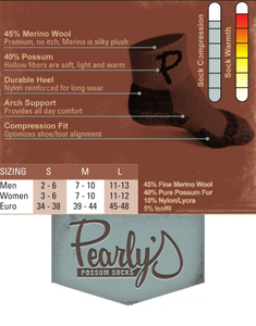 Original Pearly - The Finest Cold Weather Biking Sock in the World.