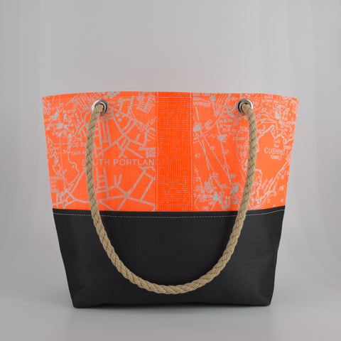 Coral Chart in Portland Print Tote