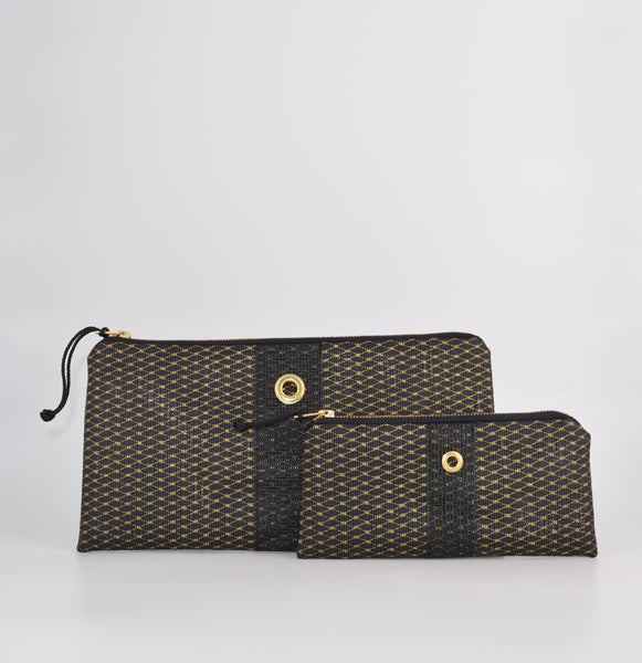 Gold & Black Metallic Clutch