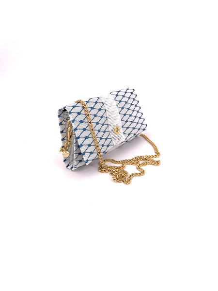 Sailor Blue & Gold Crossbody