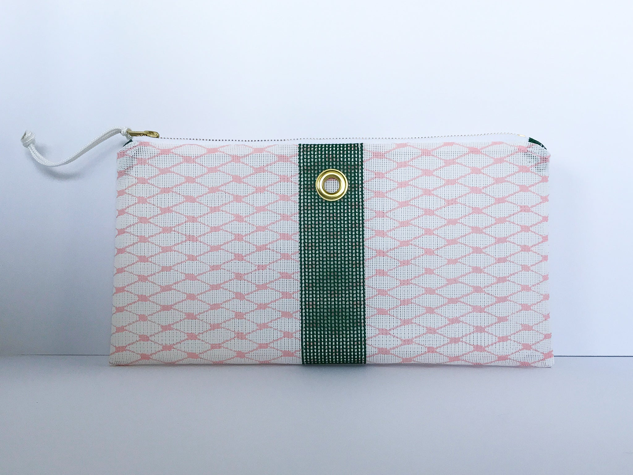 Blush & Forest Clutch