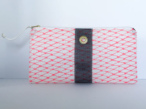 Hot Pink & Navy Clutch