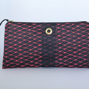 Hot Pink & Black Clutch