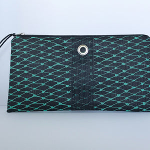 Teal & Black Clutch