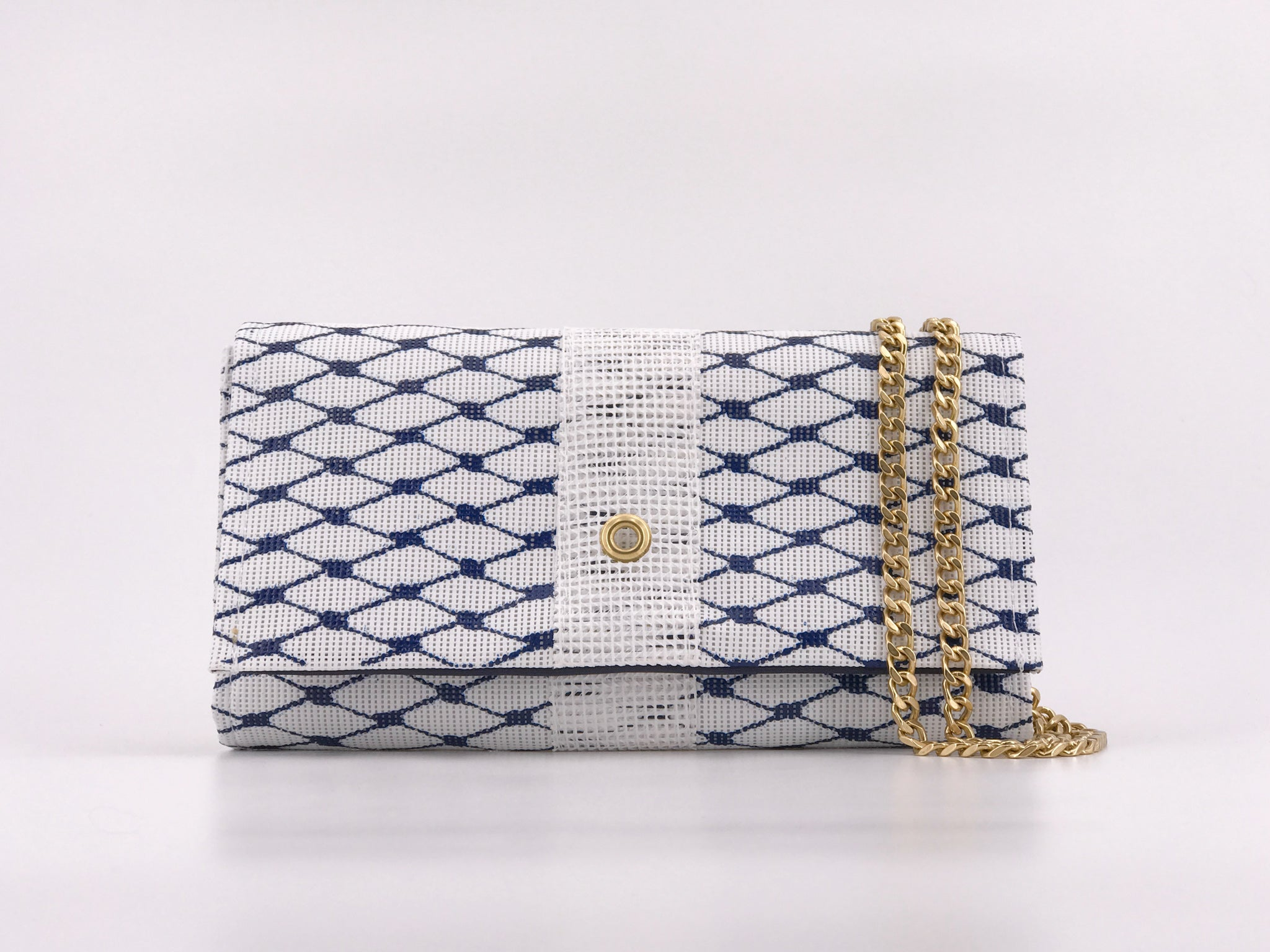 Conley Crossbody in Sailor Blue & Gold
