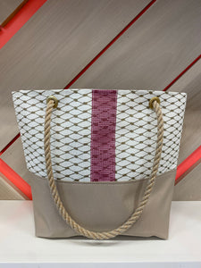 Market Tote in Gold & Mauve