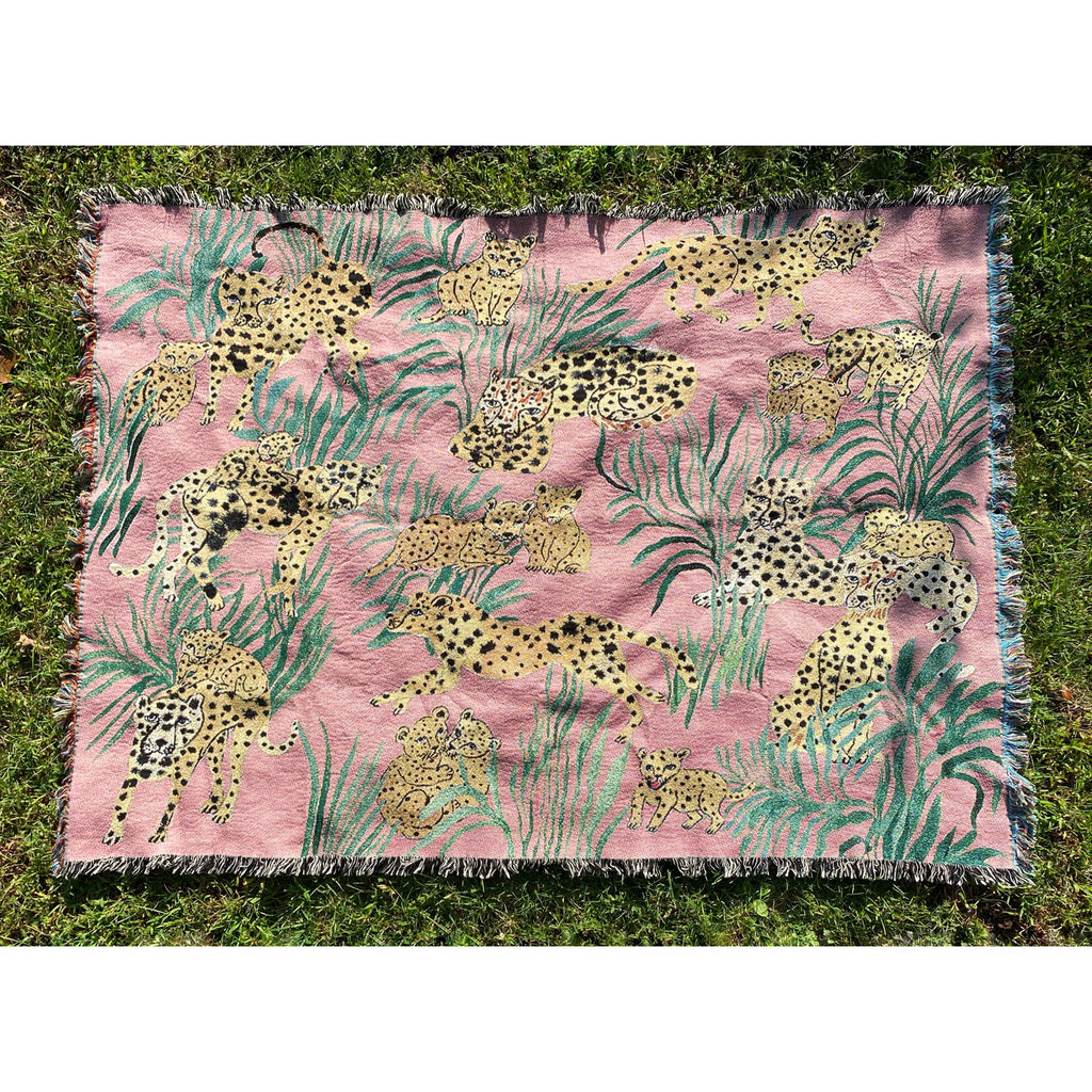 Pink Cheetahs Throw Blanket