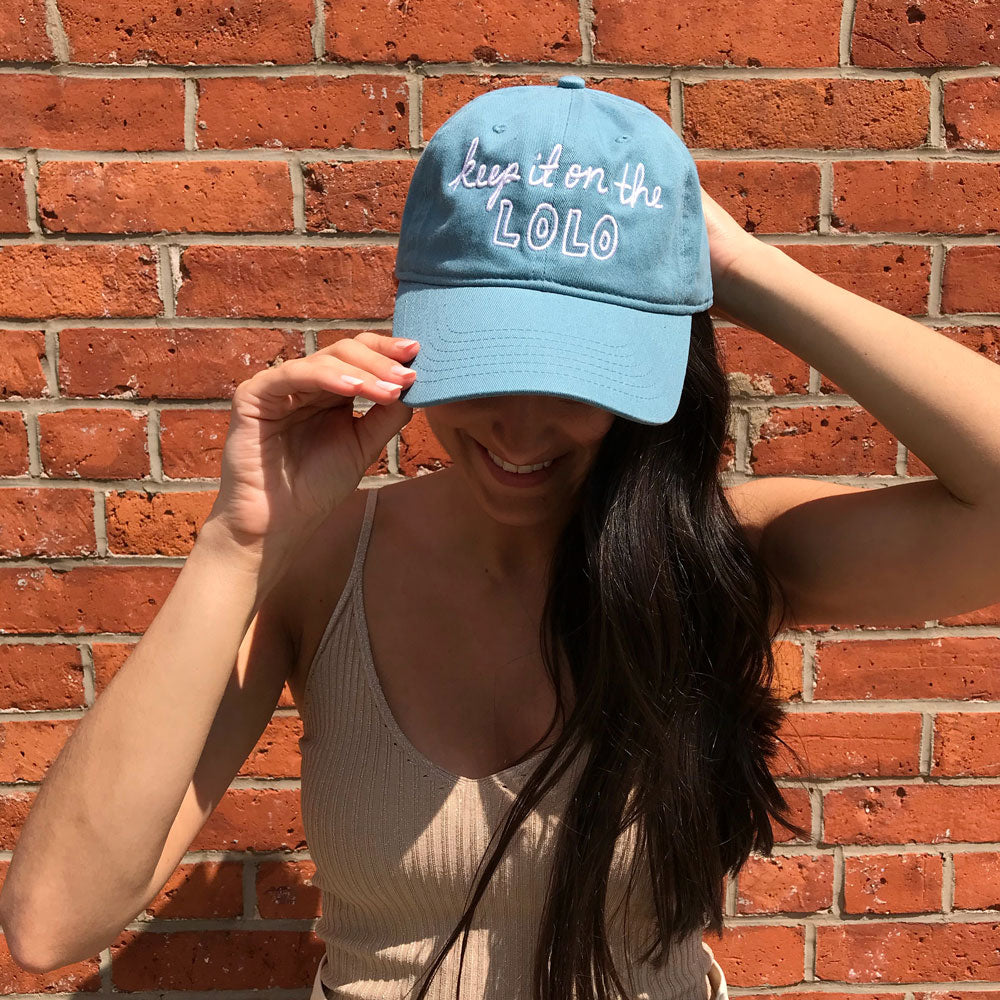 Embroidered Hat - Dusty Teal