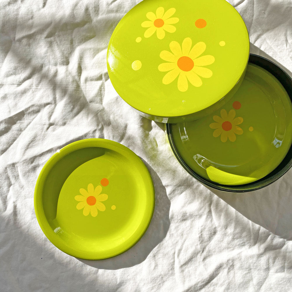 Vintage Retro Daisy Coasters - Set of 6