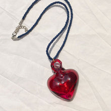 Load image into Gallery viewer, Glass Heart Necklace
