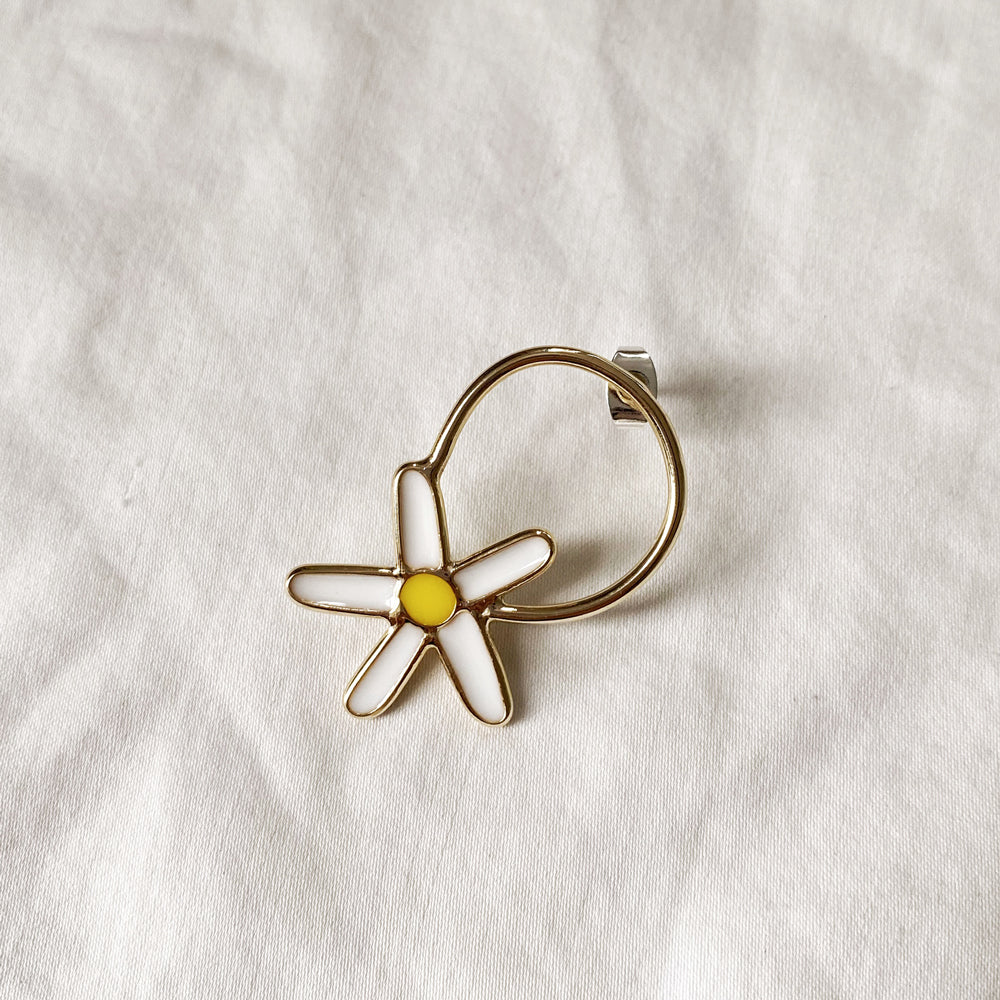 Daisy Popper Earring - Sterling Silver