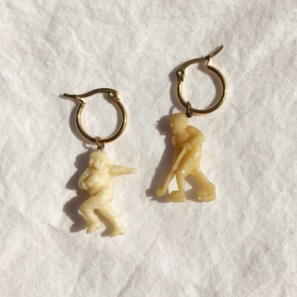 Vintage Celluloid Charm Earrings