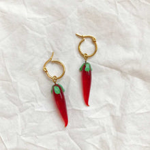 Load image into Gallery viewer, Vintage Glass Pepper Charm Earrings