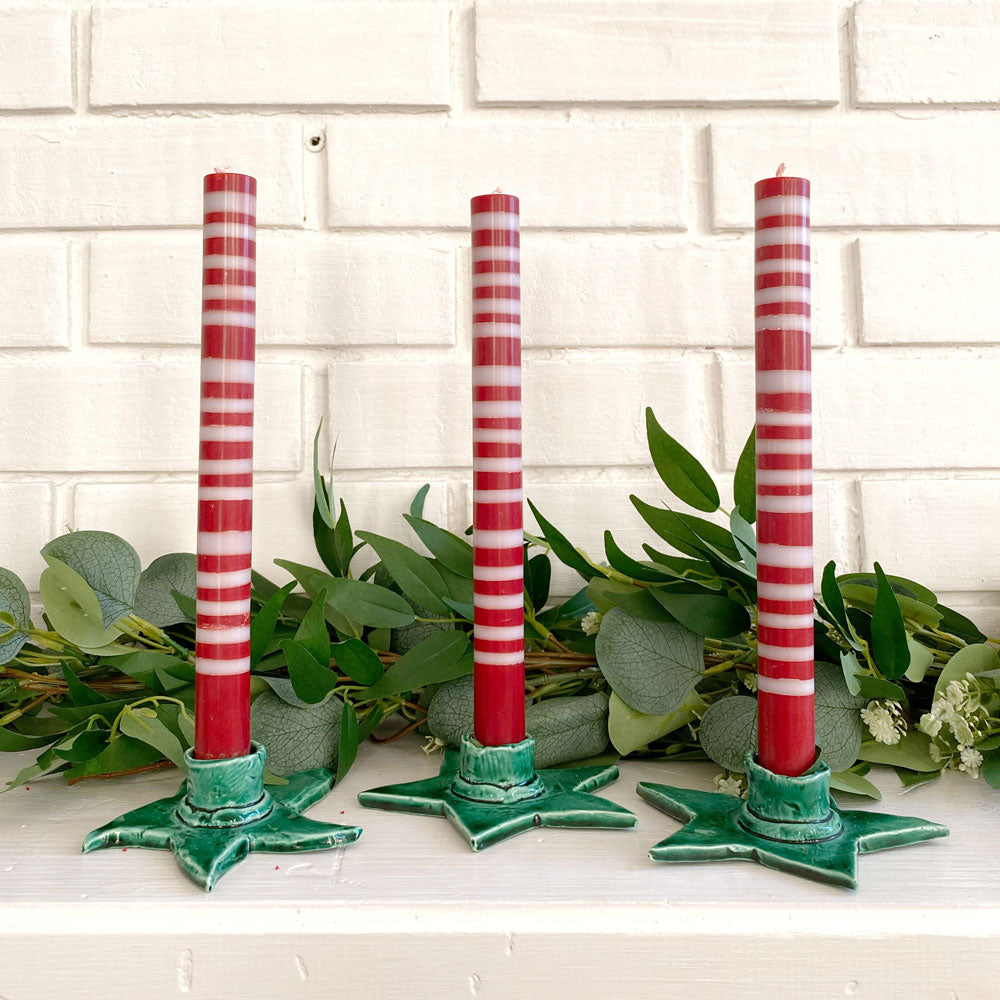 Candy Stripe Candles, Set of 4